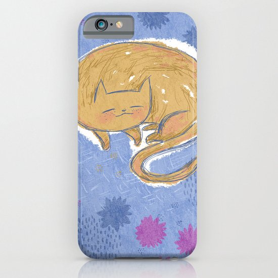 Sleepy Kitty Dreams iPhone & iPod Case