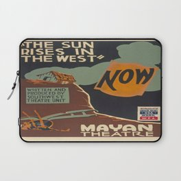 Vintage poster - The Sun Rises in the West Laptop Sleeve