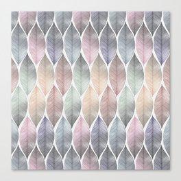 Metallic Leaf Pattern Canvas Print