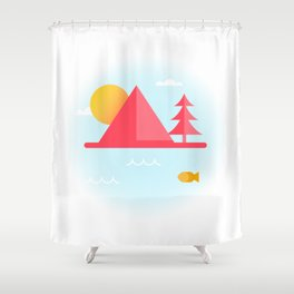 OCEAN TO SKY Shower Curtain
