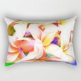 Yoga Om Frangipani Pagoda Flower Rectangular Pillow