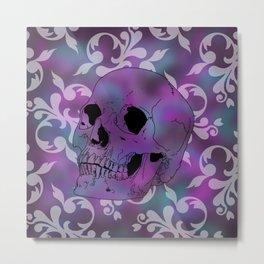 Nebula Skull Pattern Metal Print