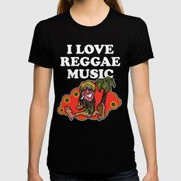 I Love Reggae Music | Jamaican Rasta Stoner Roots and Spliff Culture T-shirt