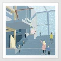 Museum in Pastels  Art Print