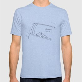 Beagle looking out the car window drawing T-shirt