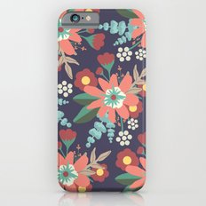 Navy Coral Floral Slim Case iPhone 6s