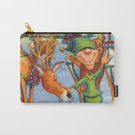 Elf Karl and the Reindeer Carry-All Pouch