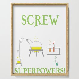 Funny Science Lab T-Shirt - Super Hero Powers Tee Serving Tray