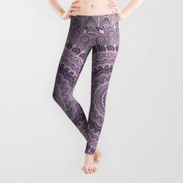 Purple feather mandala Leggings