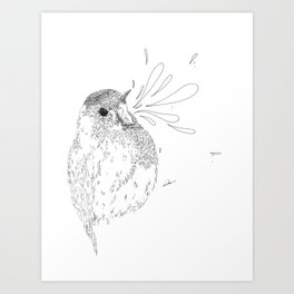 Animal nest Art Print