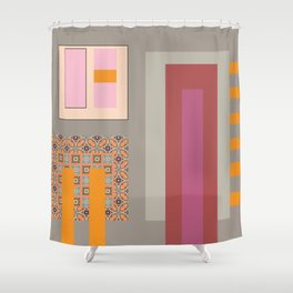 Gray expectations Shower Curtain