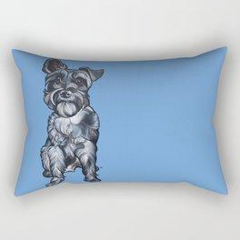 Rupert the Miniature Schnauzer Rectangular Pillow