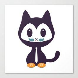 Cute kitten wearing tie Canvas Print