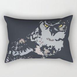 Bold Eagle Owl, Bird Of Prey Print Rectangular Pillow
