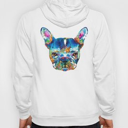 Colorful French Bulldog Dog Art By Sharon Cummings Hoody