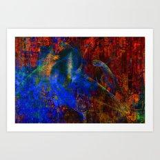 Ange bleu Art Print