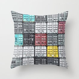 Container City Throw Pillow