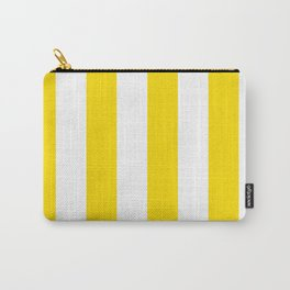 Classic Cabana Stripe in Lemon Yellow + White Carry-All Pouch