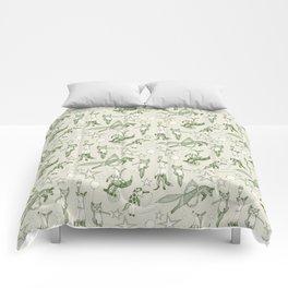 foxy circus green ivory Comforters