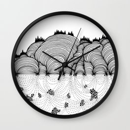 Beneath the Hills Wall Clock