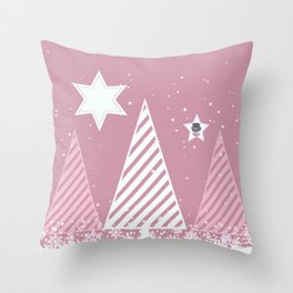 Stars forest Throw Pillow