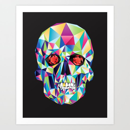 Geometric Candy Skull Art Print