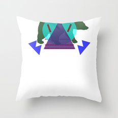 Pol∆r Kolors Throw Pillow