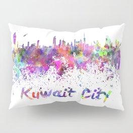 Kuwait City skiline in watercolor Pillow Sham