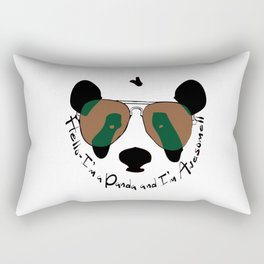 Hello awesome panda Rectangular Pillow