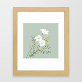 Soft and Sweet Floral Bouquet Framed Art Print