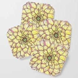 Yellow Flower Love Coaster