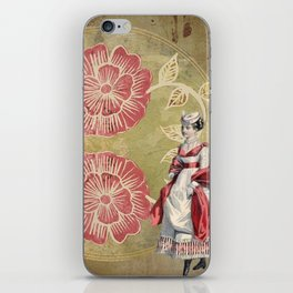 Victorian | Aesthetic | Two Flowers | Lady | Pink | Vintage iPhone Skin