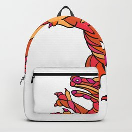 Crocodile Prancing Mosaic Color Backpack