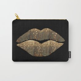 Golden Motes Kissing Lips Carry-All Pouch