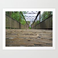 Rickety Railroad Bridge Art Print
