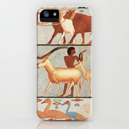 Ancient - Giza 1900, Wall painting 5 iPhone Case