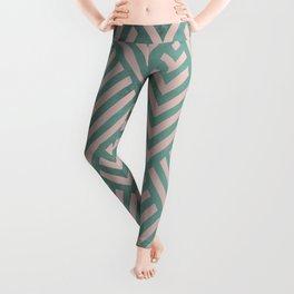 ROMBI PINK & GREEN Leggings