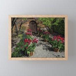 Wallpaper California USA Filoli Gardens Nature Tulips Spring Door tulip doors Framed Mini Art Print