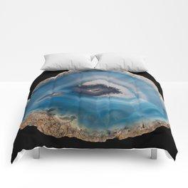Blue Geode Comforters