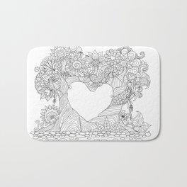 LOVE TREES LINEART Bath Mat