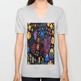 let's go see fireworks Unisex V-Neck