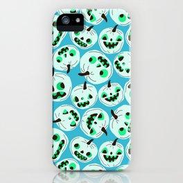 Blue Pumpkins iPhone Case
