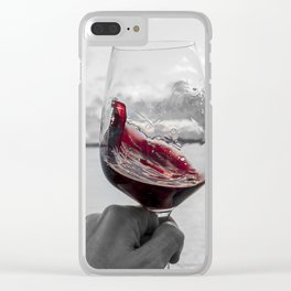 Swirling Red Clear iPhone Case