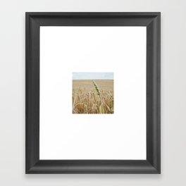 French Wheat Field Framed Art Print