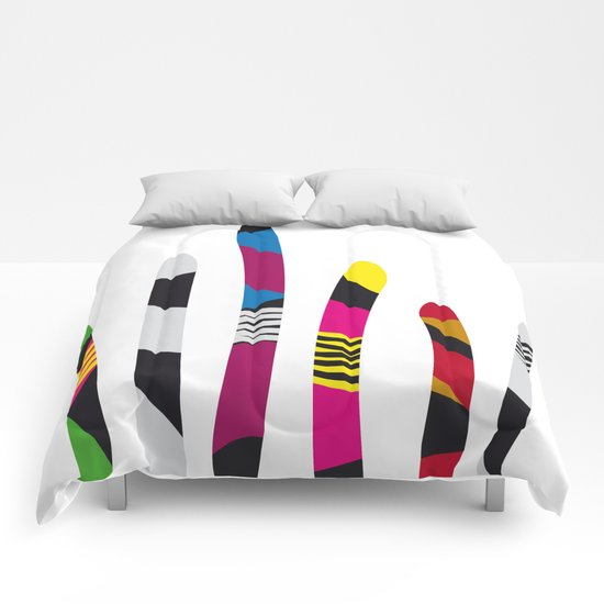colored sticks 3 Comforters