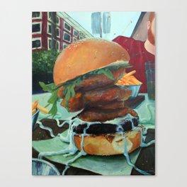 Bronx Burger at Earls in Yaletown Canvas Print