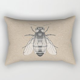 Bee pencil drawing Rectangular Pillow