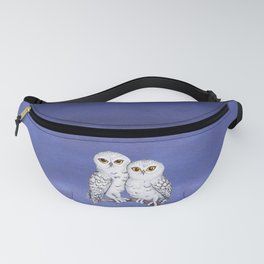 Two lovely snowy owls Fanny Pack