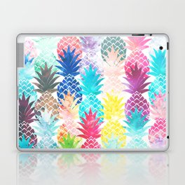 Hawaiian Pineapple Pattern Tropical Watercolor Laptop & iPad Skin