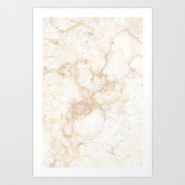 Gold Marble Natural Stone Veining Quartz Art Print
